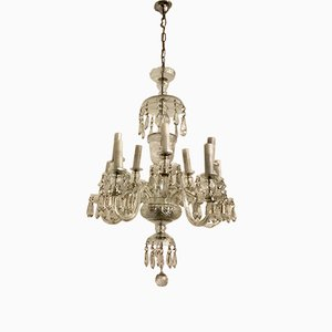 Bohemian Lead Crystal 10-Light Chandelier, 1960s