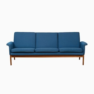 Mid-Century Danish 218 Jupiter Teak and Wool Sofa by Finn Juhl, 1960s