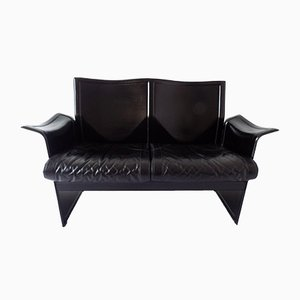 Italian Modern Korium 2-Seater Leather Sofa by Tito Agnoli for Matteo Grassi, 1970s