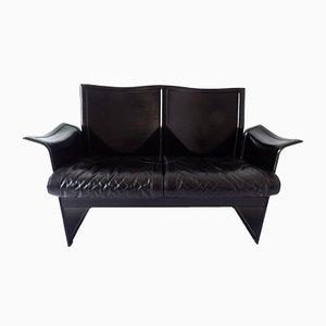Modernes italienisches Korium 2-Sitzer Ledersofa von Tito Agnoli für Matteo Grassi, 1970er