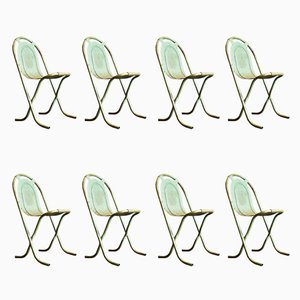 Steel Stak-a-Bye Chairs by Harry Sebel for Sebel, 1940s, Set of 8