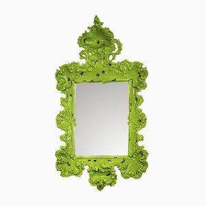 Espejo estilo barroco de cerámica adornado bichos de Superego, década de 2000
