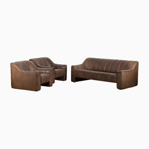 DS44 Leather Living Room Set from de Sede, 1970s