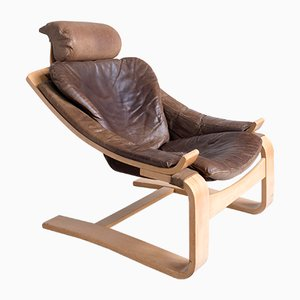 Kroken de Luxe Lounge Chair by Ake Fribytter for Nelo Mobel, 1970s