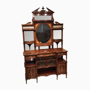 Antique Victorian Inlaid Mahogany Cabinet