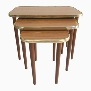 Mid-Century Wooden Nesting Tables, 1960s