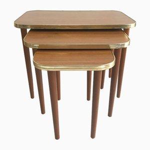 Tavolini a incastro Mid-Century in legno, anni '60