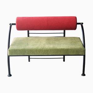 Geometrisches italienisches Vintage Memphis Sofa in Grün & Rot, 1980er