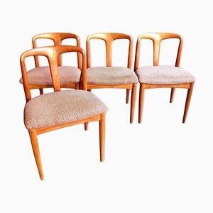 Dänische Mid-Century Juliane Esszimmerstühle aus Teak von Johannes Andersen für Uldum Møbelfabrik, 4er Set