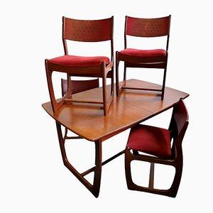Juego de mesa de comedor Mid-Century de teca y sillas de Portwood