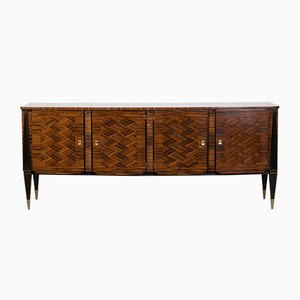 Art Deco French Macassar Ebony Buffet, 1940s