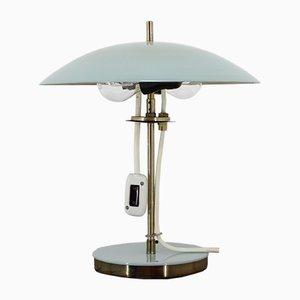 Lámpara de mesa vintage de latón y metal, años 70
