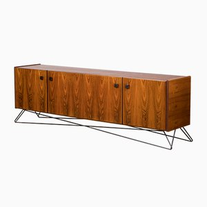 Mid-Century Steel and Palisander Sideboard, 1960s