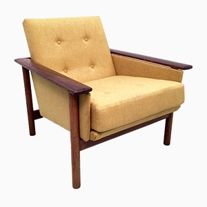 Mid-Century Danish Rosewood and Teak Low Back Lounge Chair, 1960s