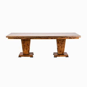 Mesa de comedor estilo Art Déco de madera de arce de Restall Brown & Clenell para Restall Brown & Clenell, años 80
