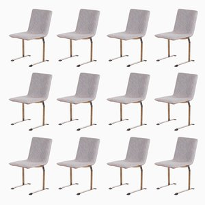Italian Dining Chairs by Giovanni Offredi for Saporiti Italia, 1970s, Set of 12