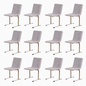 Italian Dining Chairs by Giovanni Offredi for Saporiti Italia, 1970s, Set of 12