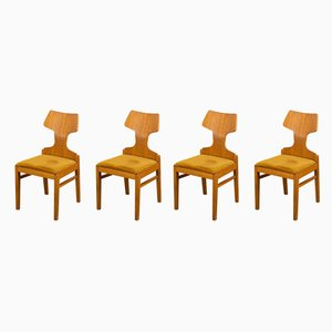 Beech Veneer Dining Chairs by Alphons Loebenstein for Meredew, 1960s, Set of 4