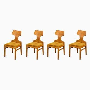 Beech Veneer Dining Chairs by Alphons Loebenstein for Meredew, 1960s, Set of 4
