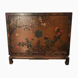 Hand-Crafted Asian Wooden Cabinet, 1970s