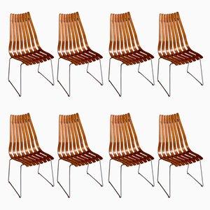 Esszimmerstühle aus Teak von Hans Brattrud für Hove Møbler, 1960er, 8er Set