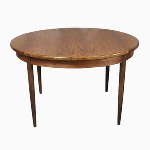 Round Teak and Afromosia Extendable Dining Table by Victor Wilkins for G-Plan, 1960s