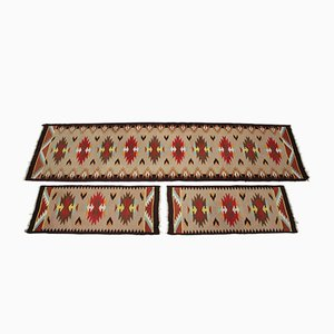 Mid-Century Wool Kilim Rugs, 1960s, Set of 3