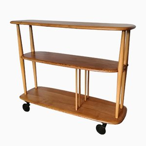 Beech and Elm 361 Book Trolley by Lucian Ercolani for Ercol, 1950s