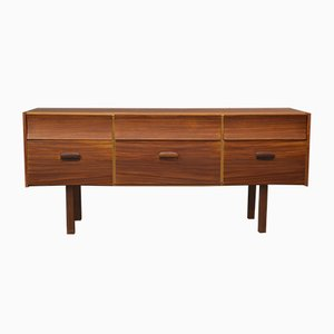 Low Teak Chest of Drawers from William Lawrence of Nottingham, 1960s