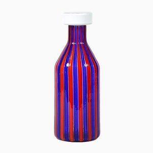 Vase A Canne Mid-Century en Verre de Murano de Vistosi, 1960s