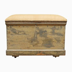 Antique Bohemian Hessian and Pine Trunk