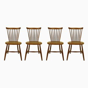 Esszimmerstühle aus Afrormosia von Yngve Ekström für Pastoe, 1950er, 4er Set
