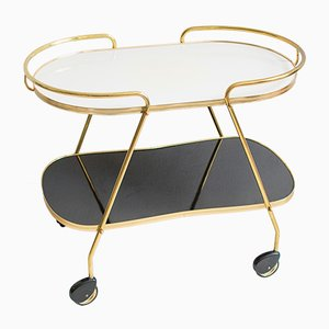 Mid-Century Brass and Formica Tea Cart, 1960s