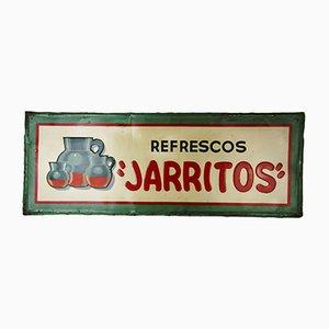Insegna Jarritos industriale in acciaio