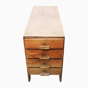 Mid-Century Industrial Wooden Dresser, 1960s