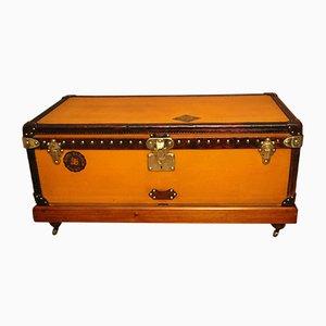 Baúl de lona en naranja de Louis Vuitton, década de 1900