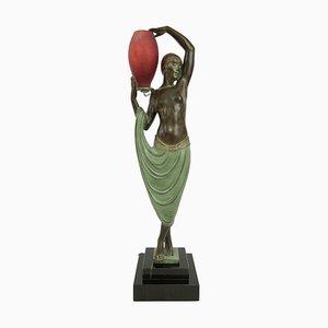 Beleuchtete Odalisken-Skulptur von Pierre Le Faguay für Max Le Verrier