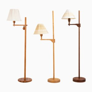 Staken Floor Lamps by Carl Malmsten, 1941, Set of 3