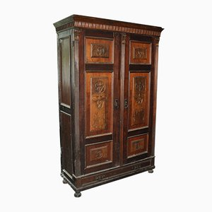 Antique Hungarian Wooden Wardrobe, 1880s