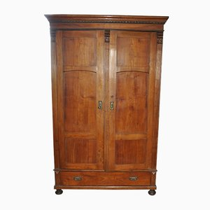 Antique Hungarian Wooden Wardrobe, 1900s