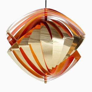 Danish P483 Aluminum Ceiling Lamp by Louis Weisdorf for Lyfa, 1960s