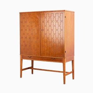 Mid-Century Mahogany Geometric Cabinet, 1950s