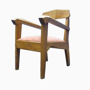 German Walnut Anthroposophical Dining Chair by Siegfried Pütz, 1920s