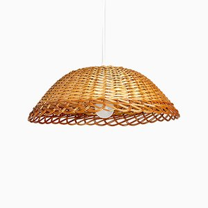 Vintage Wicker Ceiling Lamp, 1970s