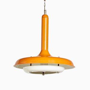 Lampada da soffitto vintage in metallo, anni '70