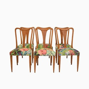 Italian Beech Dining Chairs by Osvaldo Borsani, 1942, Set of 6