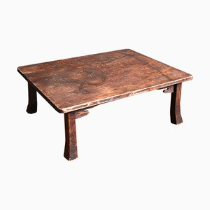 Antique Japanese Cedar Chabudai Coffee Table