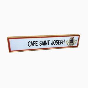 Vintage Cafe Saint Joseph Schild, 1970er