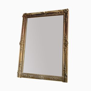 Antique Baroque French Gilt Gesso Mirror