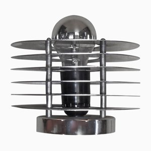 Modernist Aluminum and Brass Table Lamp, 1970s